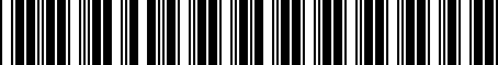 Barcode for PT61121111