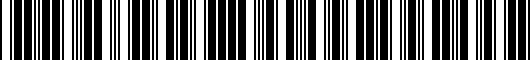 Barcode for PT7473520102